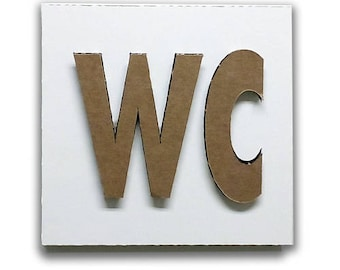 WC - Restroom door sign, restroom sign, restroom decor, toilet sign, wc sign, wc plaque, wc icon wc toilet | Tropparoba - 100% made in Italy