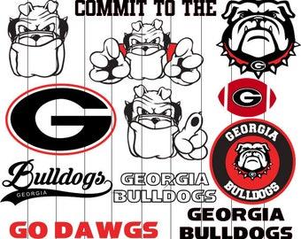 Georgia Bulldogs svg, Bulldogs clipart, Georgia svg, Georgia clipart, Dawgs digital – svg, eps, png, dxf, pdf. Cut Print Mug Shirt Decal.