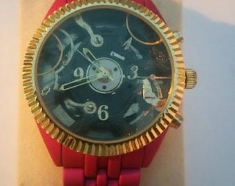 Custom Fashion Steampunk Skeleton watch
