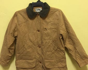 Rare!! Vintage L.L. Bean Cotton Shooting Men's Jacket Coat W/Blanket Lining Size S Made in Usa