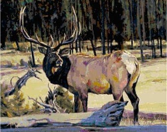 Elk Cross Stitch Chart