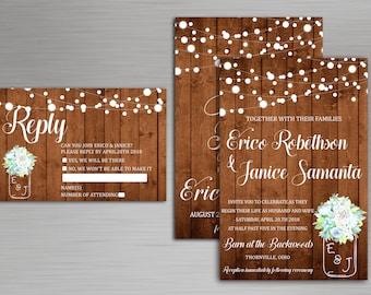 Rustic Wedding Invitation Set, Rustic Wedding Invitation Template Download, Rustic  Wedding Invitation, Wedding