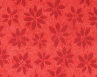 Red  , Red Poinsettia Watermark  Tissue Paper, Large sheets, 20 x 30 inches. Red Tissue Paper