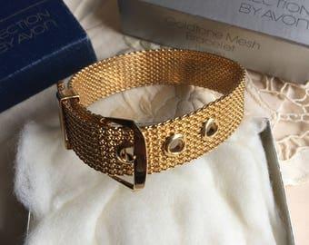 SALE!Vintage Avon Goldtone Mesh Bracelet, 1976