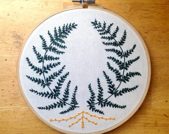Two Ferns | embroidery