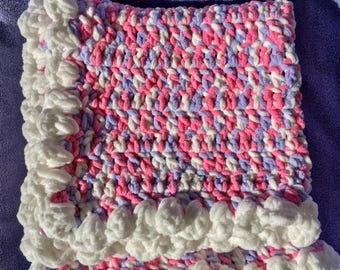 Crochet Baby Blanket.handmade.Baby Essentials,Baby Shower, Baby Bedding, Nursery Necessity,Newborn Gift,Numerous sizes & Color Combos