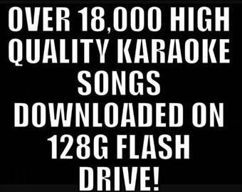 Over 18,000 High Quality Karaoke Songs!