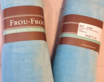 Color blue velvet Jersey fabric