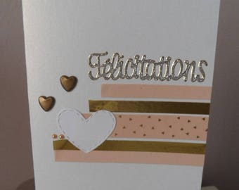 Wedding card, congratulations card, congratulations