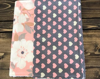 Flowers and Hearts Baby Cloths Set