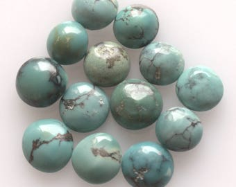 8 MM Natural Round Turquoise Cabochon Gemstone AAA High Quality Gemstones