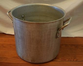 Antique steel cooking pot