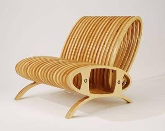 Oval Design Birch Chair
