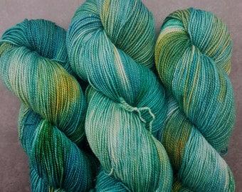 Lagoon ~ Barbarella ~ Merino Nylon Stellina Sock Yarn