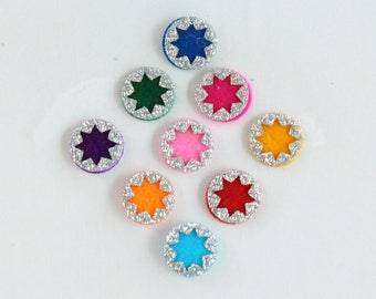 Multi Color Wedding Round Bindis,Round Bindis,Colorful Bindis,Colorful Face Bindis,Bollywood Bindis,Self Adhesive Stickers,Face Tattoos