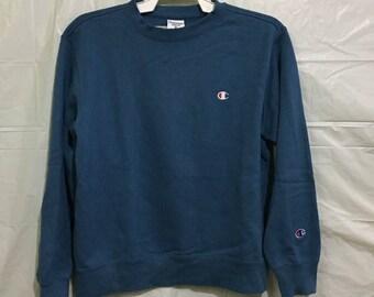 RARE champion sweatshirt crewneck small logo authentic american apparel large size
