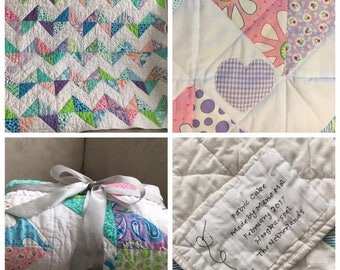 Beautiful (baby) home made quilt