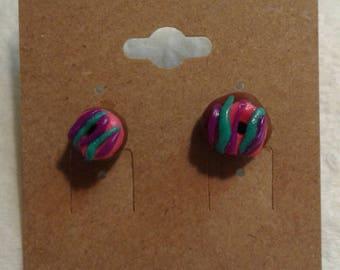 Frosted Donut Earrings