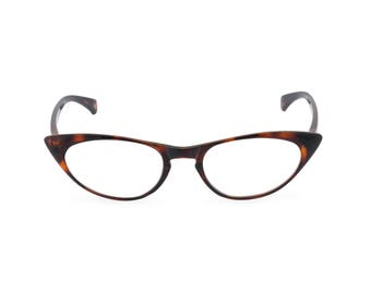 1950s 60s style 'Peggy' Tortoiseshell CAT EYE Rxable frame or reading glasses clear to +3.00 NEW to original vintage design best seller