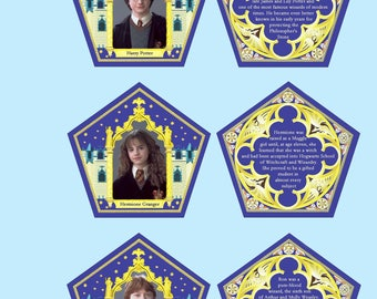 Chocolate box cards replica main characters collectible cards, schokoladenfrosch honey chocolate candy cards harry potter chocolate frog box