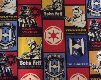 Star Wars Yoda Darth Vader Galactic Republic Cotton Fabric by the Yard or 1/2 Yard