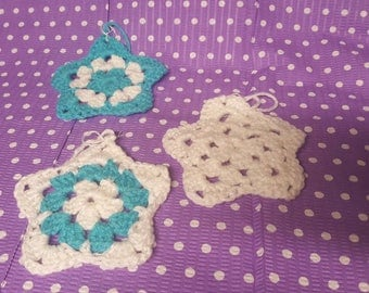 Granny Star Crocheted Ornaments