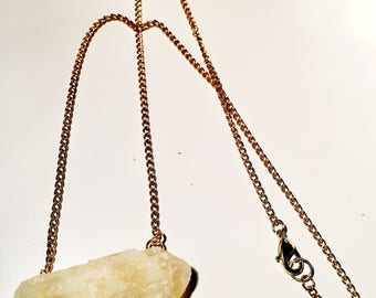 Yellow calcite necklace