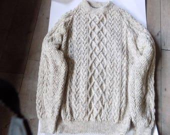 hand knitted aran jumper