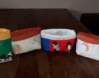 Handmade fabrics baskets