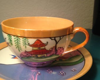 Vintage Japanese tea cup and saucer