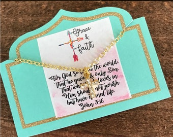 """18"""" dainty gold cross necklace"""