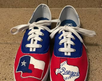 Texas rangers tennis shoes