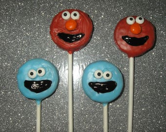 Elmo and Cookie Monster Oreo Cookie Pops