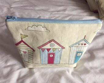 Beach Hut Cosmetic Bag