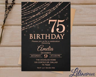 Gold Invitation Etsy - Birthday invitation gold coast