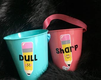 Classroom Pencil Cups-STICKER ONLY