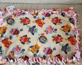 Owl blanket, Star blanket, Cat blanket, Small blanket, Fleece blanket, Pet bed, Pet bedding, Cat accessories, Pet supplies, Starley blanket,