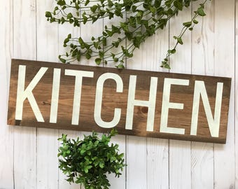 Kitchen Sign, Wood Kitchen Sign, Wooden Kitchen Sign, Kitchen Wall Art, Rustic Kitchen Sign, Rustic Kitchen Decor, Farmhouse Kitchen Sign