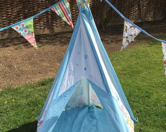Children's Canvas Teepee - Blue design