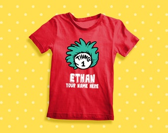 Thing 1 Thing 2 Dr Suess for the who family