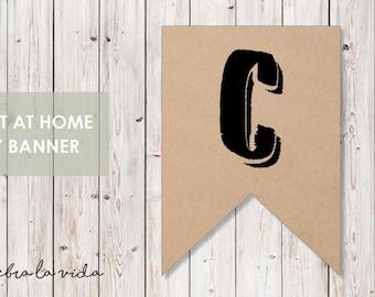 DIY Banner - 'C'. Instant Download. Printable Banner Letters. - 02