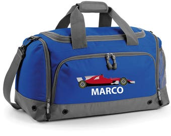 iLeisure Formula Racing Holdall with your Name/Club Holdall Printed Kit Bag.