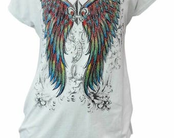 STUNNING Hardy tattoo studded, printed t-shirts, tops, half sleeve, fashion summer t-shirt
