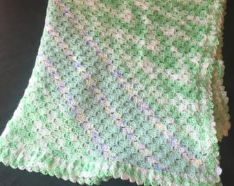 Supersoft green baby blanket!