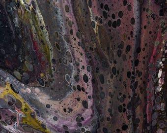 DvonG #1: Original Handmade Acrylic Pouring Painting