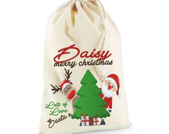 North Pole Post Office Christmas Day Personalised Custom Delivery Sack Kids Boys Girls 07