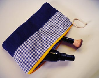 Hand sewn toiletry pouch