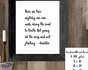 Buddha Truth Quote Printable Wall Art, Buddha Print, Buddhist Poster, Instant Download, Inspirational Quotes, Mindful Buddha Art, Yoga Gifts