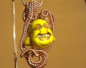 Yellow Turquoise Buddha Pendant