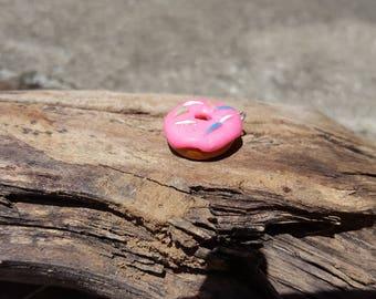 Mini polymer clay donut charm